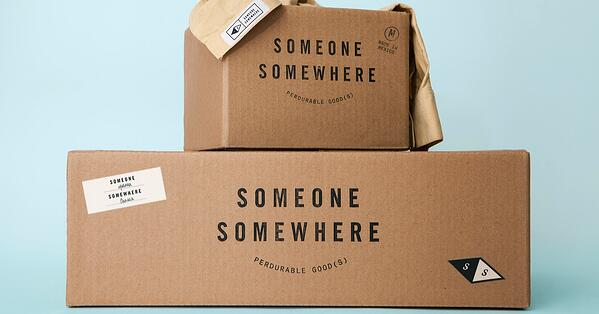 someone somewhere packaging