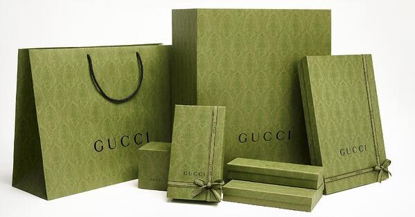 gucci ethical packaging