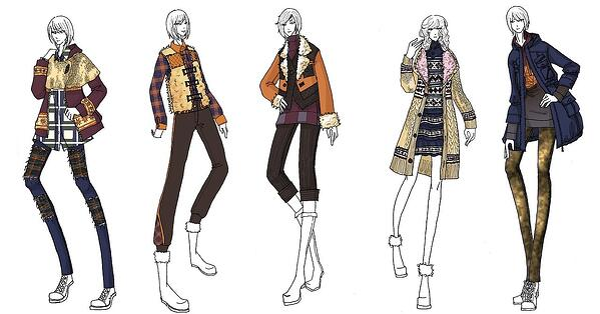 clothing design sketch fashion production