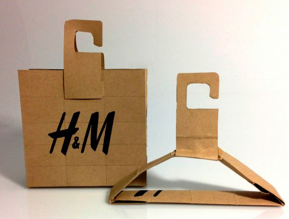 h and m kraft packaging-concept