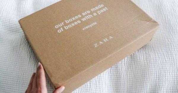 zara packaging eco friendly cardboard